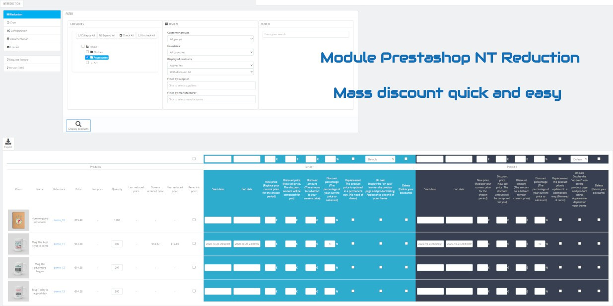 NT Reduction : Mass discount quick and easy