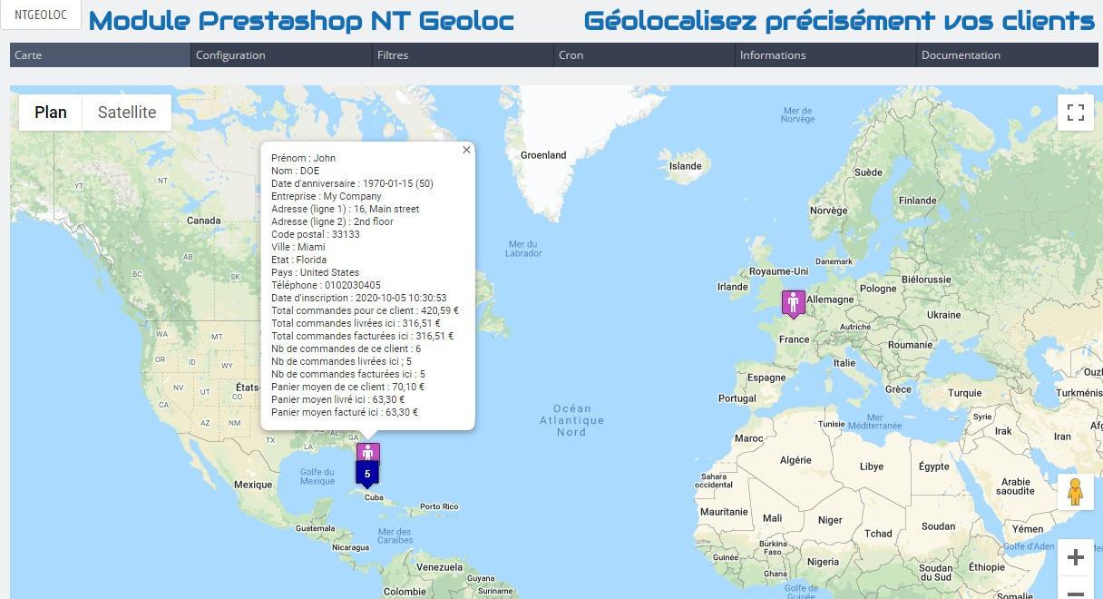 Module Prestashop NT Geoloc : Géolocalisez précisément vos clients